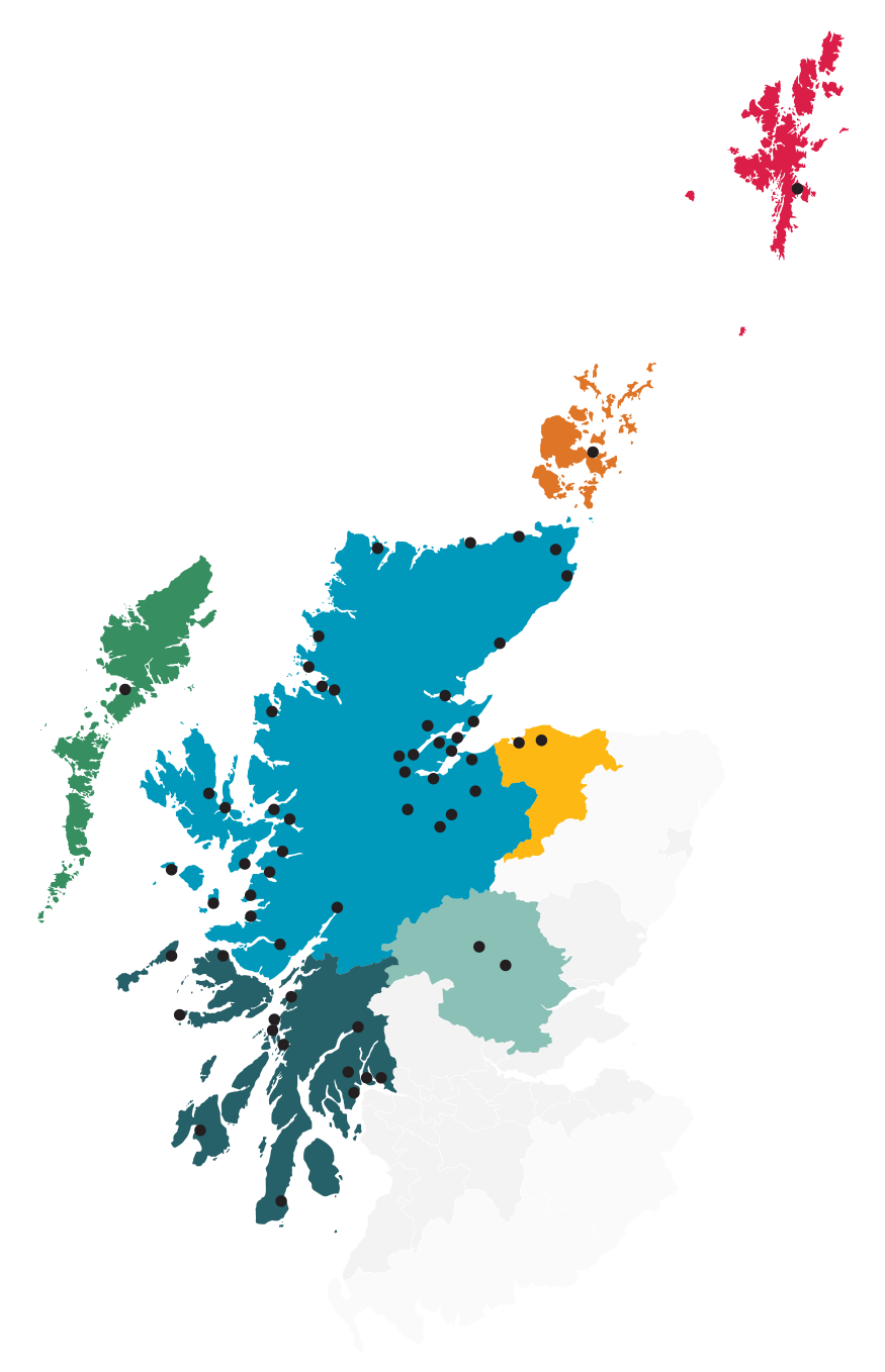 Regions of the Highlands and Islands